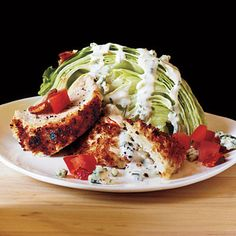 Chicken BLT Salad - Cooking Light Magazine: The Weeknight Chicken Cookbook. Crisp chicken boosts a favorite side salad to a healthy main-course attraction. Chicken Blt, Oven Fried Chicken, Fried Chicken Recipes, Chicken Salads, Recipe Chicken, Soy Chicken, Fresh Chicken, Frozen Chicken, Crispy Chicken