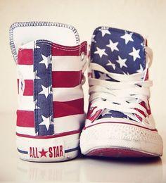 american flag converse                                                                                                                                                     More
