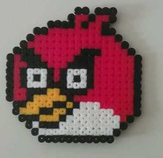 ANGRY BIRDS HAND MADE HAMA BEAD DESIGN, IDEAL FOR COASTER OR COLLECTABLE on eBay!