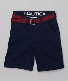 Love this Sport Navy Flat-Front Shorts - Infant, Toddler & Boys on #zulily! #zulilyfinds