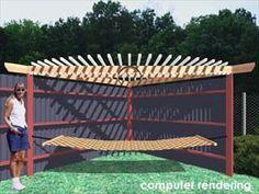 love the corner idea....arbor hammock -