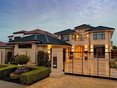 60 Most Popular Modern Dream House Exterior Design Ideas - Ideaboz Dream House Interior, Luxury Homes Dream Houses, Dream Home Design, Modern House Design, Beautiful Modern Homes, Mansions Homes, Australian Homes, Facade Design, House Exterior Design