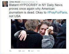 James Woods Blasts Media's 'Blatant HYPOCRISY': 'Okay to #PrayForParis, Not USA'