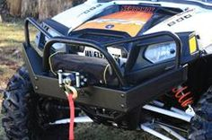 Side By Side Stuff can set you up with some tough looking bumpers, winches and hitches for your Polaris RZR 800 or RZR S.  Be the hero and pull your buddies out of those mud holes or rough terrain that they always manage to get stuck in.  With this heavy duty equipment nobody is left behind!   http://www.sidebysidestuff.com/rzr-s/bumpers-winches-hitches