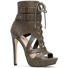 ShoeDazzle Sandals-Dressy - Platform Briley Womens Green ❤ liked on Polyvore featuring shoes, sandals, green, sandals-dressy - platform, platform sandals, cutout sandals, cut out platform shoes, green sandals and dressy sandals