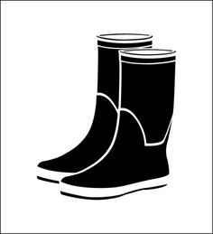 Stencil of boots. Sea atmosphere (ref Silhouette Files, Silhouette Studio, Fisherman's Friends, Silhouette Portrait, Custom Stencils, Brother Scan And Cut, Everyday Objects, Filofax, Vinyl Decals