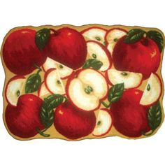 Awesome Amazon.com: ORCHARD APPLES KITCHEN RUG   NON SKID BACK: Home U0026 Kitchen