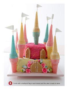 Princess Castle cake - N's 2nd bday i think