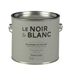 Le Noir & Blanc muurverf extra mat newport green 2,5 l | Muurverf kleur | Muurverf | Verf & verfbenodigdheden | KARWEI