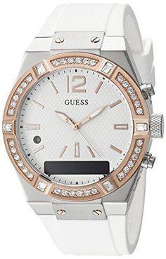 GUESS – Montre GUESS Silicone – Montre connectée – Femme – 40 mm: Tweet GUESS CONNECT : une montre connectée chic et tendance, conçue pour…