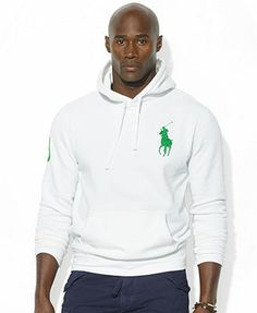 Polo Ralph Lauren Big and Tall Hoodie, Big Pony Beach Fleece Pullover Hoodie - Hoodies \u0026amp; Sweatshirts - Men - Macy\u0026#39;s