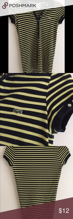 Lacoste polo shirt Navy and yellow Lacoste polo shirt Lacoste Tops