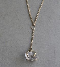 Asymmetrical Triangles & Herkimer Diamond Necklace by Elaine B Jewelry on Scoutmob Shoppe