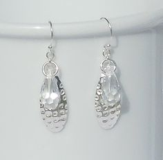 Sterling silver and Swarovski crystal earrings by ParkhillDesigns on Etsy