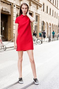 Put your own spin on the minidress, and wear it with a pair of slip-on sneakers and a statement ear cuff. The result will be some parts feminine, other parts tomboyish, and all parts stylish.