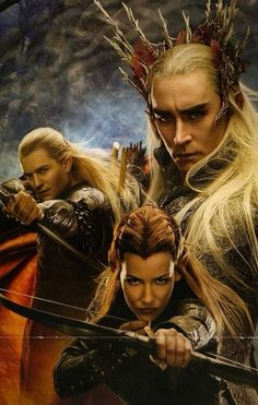 The Hobbit: Tauriel, Legolas & Thranduil