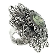 Silver Night Ring | Fusion Beads Inspiration Gallery