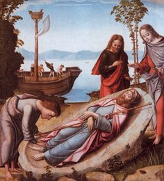 Maestro de Astorga. Desembarco del cuerpo de Santiago Apóstol, 1501-1525. Fundación Lázaro Galdiano