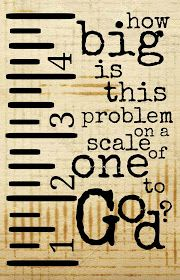 How big is your problem on a scale of 1 to God?!