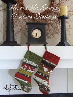 Scrappy Christmas Stocking - Tutorials | Hamels Thread
