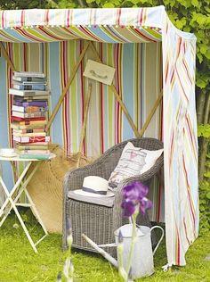 Bookish garden nook