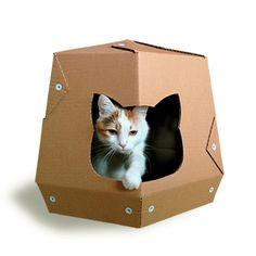 Martian Cardboard Cat House Cat Furniture Cat by CacaoFurniture