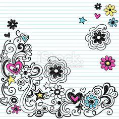 Swirly Marker Doodles Royalty Free Stock Vector Art Illustration