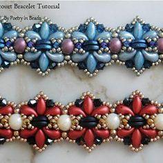 Bracelet Beading Tutorial, Agincourt Bracelet, Bracelet Pattern, Bead Tutorial, Iris duo, Zoliduo, 2 hole cabochon, Swarovski bicone, PDF