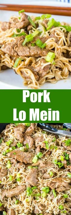 Five Spice Pork Lo Mein - Lo Mein is a classic take out dish, but this takes it up a notch. Chinese Five Spice Powder gives tons of great flavor in this quick and easy dinner! Recipes Using Pork, Beef Recipes, Cooking Recipes, Fun Easy Recipes, Delicious Dinner Recipes, Amazing Recipes, Yummy Recipes, Yummy Food, Entree Recipes