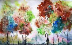 Download wallpaper picture, landscape, watercolor free desktop wallpaper in the resolution 1680x1050 — picture №421827