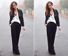 maxi + knit + leather