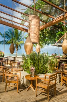 Restaurant Lighting, Outdoor Restaurant, Cafe Restaurant, Restaurant Design, Jamaican Restaurant, Pool Bar, Interior Exterior, Interior Design, Modern Gazebo