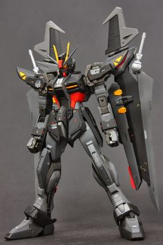 GUNDAM GUY: MG 1/100 GAT-X105E Strike Noir - Customized Build