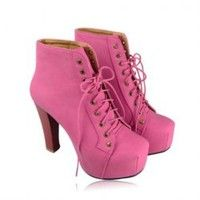 Party Women's Short Boots With Candy Color and Chunky Heel Design