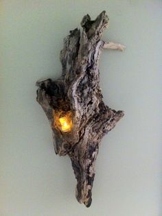Rustic Hanging Driftwood Candle Holder by ShopSweetlySalvaged, $50.00