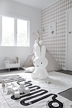 We love Maileg which is a design brand that encompasses a modern concept. The brand was established in 1999 by Dorthe and Erik Mailil. The Maileg soft Bunny and rabbit are available from our store. Nice to cuddle, the ideal accompaniment to any child's room.