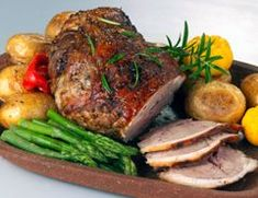 safefood roast lamb with garlic and herbs. Healthy recipe from safefood. All our recipes are nutritionally analysed by our team of experts.  #Lamb #Roast #Sunday #Easter #Healthy #Herbs #Garlic