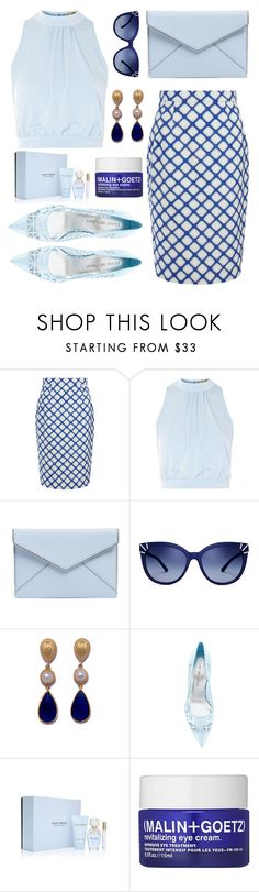 """Into The Blue"" by ayiarundhati ❤ liked on Polyvore featuring Jonathan Saunders, Love, Rebecca Minkoff, Tory Burch, Stuart Weitzman, Marc Jacobs and (MALIN+GOETZ)"