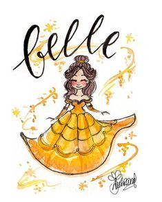 Find images and videos about art, drawing and disney on We Heart It - the app to get lost in what you love. Disney Princess Art, Disney Fan Art, Disney Love, Disney Magic, Disney Girls, Disney Belle, Disney Drawings, Cartoon Drawings, Cute Drawings
