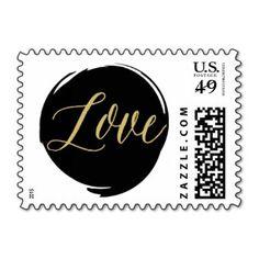 Modern Brush Strokes Postage Stamp