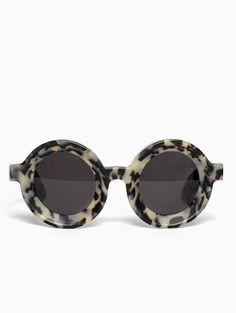 "fc03072e80 ""Julius"" circular sunglasses from Kuboraum collection."
