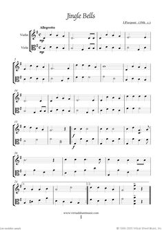 Jingle Bells for violin and viola (duet) from Christmas Sheet Music and Carols, coll.1 for violin and viola