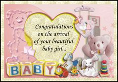 Sweet birth congratulations for a new arrival of a sweet girl. Free online Your Lovely Baby Girl ecards on Congratulations New Parents, New Moms, Birth Congratulations, New Baby Cards, Beautiful Baby Girl, Big Hugs, Name Cards, Sweet Girls, Card Sizes
