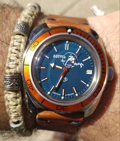 Sporting my new #Vostok from @am_watches. With a custom @jackfosterusa band. Love the combo. Both great service & $.