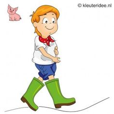 Spel 2: Boeren laarzen race, speldag thema boerderij voor kleuters, kleuteridee.nl , farm games for preschool field day.