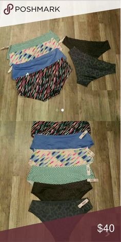 6 pair new Victoria secret panties All nwt, seamless/no show panties size medium 2 low rise cheeky 3 Low rise hipster Ships same or next day Victoria's Secret Intimates & Sleepwear Panties