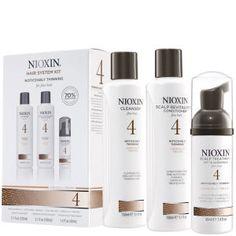Kit Nioxin System 4 - cabello fino teñido y adelgazamiento significativo del cabello (3 productos)