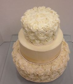 Simple Wedding Cakes Without Fondant Textured Wedding Cakes, Wedding Cake Fresh Flowers, Round Wedding Cakes, Wedding Cakes With Cupcakes, Elegant Wedding Cakes, Beautiful Wedding Cakes, Wedding Cake Designs, Wedding Cake Toppers, Rosette Wedding Cakes