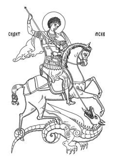 Saved by Anton Abo (antonabo). Discover more of the best Sndct, St, George, Orka, and Illustration inspiration on Designspiration Medieval Tattoo, Medieval Art, Byzantine Icons, Byzantine Art, Christian Symbols, Christian Art, Religious Icons, Religious Art, Saint George And The Dragon