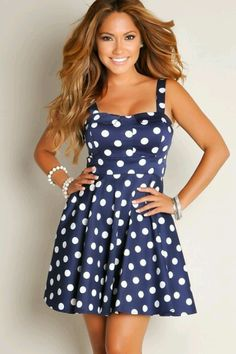 we sell this dress  on our site  http://www.moderngrease.com/darling-dress-navy-white-polka-dot/ladies/